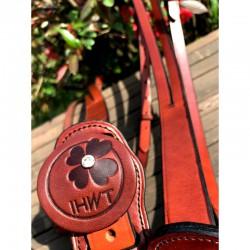 2 Martingale en cuir, martingale et collier strass, IHWT, Le Paturon
