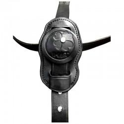 3 Martingale en cuir, martingale et collier strass, IHWT, Le Paturon