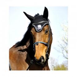 Muserolle française cheval IHWT corde enrobée noir - Le Paturon
