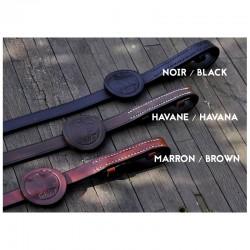 1 Muserolle ergonomique combinée en cuir confort : IHWT - Le Paturon