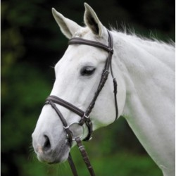 4 Bridon cheval Alicante Waldhausen, Bridon cuir muserolle pullback, Le Paturon - Waldhausen