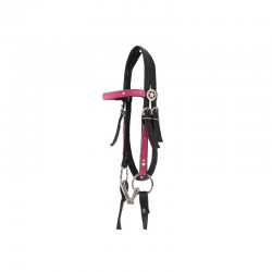 1 Bridon et collier poney Think Pink, Bridon collier western, Le Paturon - Waldhausen