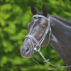 1 Bridon Shade of Grey Waldhausen, Bridon cheval X-line muserolle, Le Paturon - Waldhausen