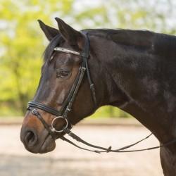 1 Bridon Kalaido Waldhausen, Bridon cheval cuir muserolle combinée, Le Paturon - Waldhausen