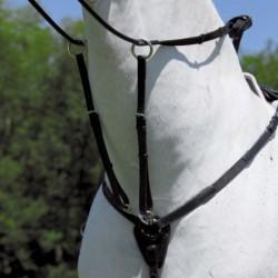 1 Bricole élastique cuir cheval, Bricole élastique Waldhausen, Le Paturon