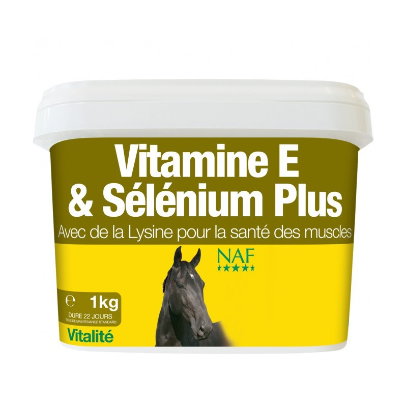 1 Naf Vitamine E Selenium Plus - Muscle Cheval,Naf Equine,Tendons et Muscles cheval