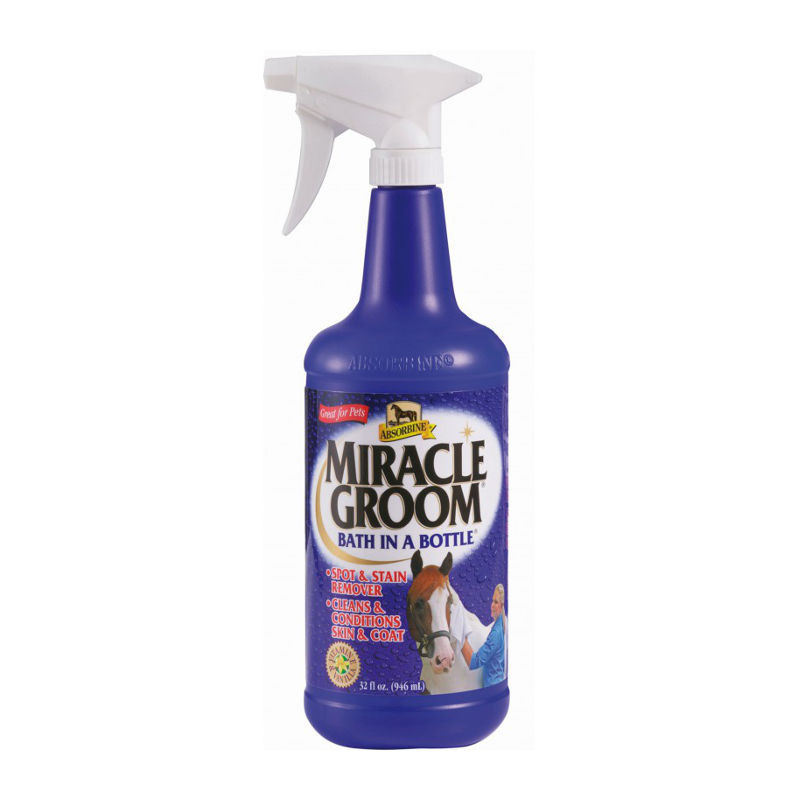 1 Miracle Groom Nettoyant à sec ,Absorbine,Lustrant et Démêlant cheval