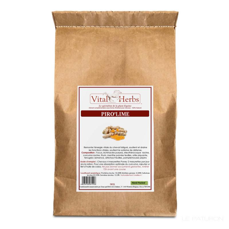 1 piro lime cheval , tique, tik, tiques, tic, vital herbs, besoins spécifiques equidés, complément che