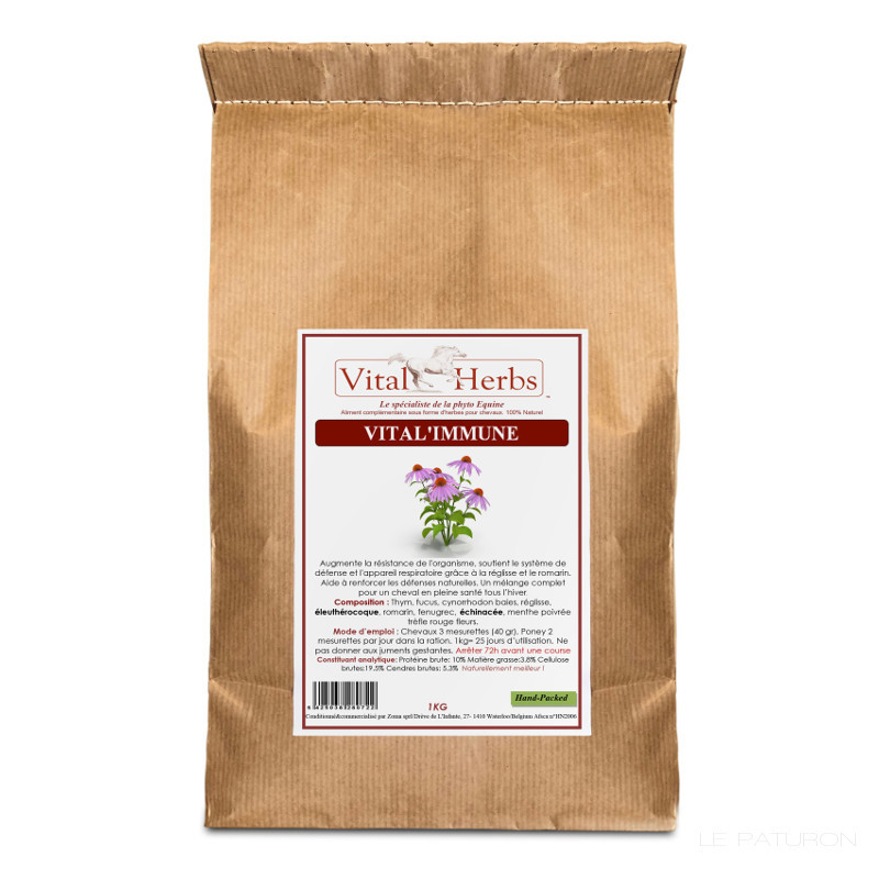 1 Vital Immune Cheval ,Vital Herbs,Vitamine cheval
