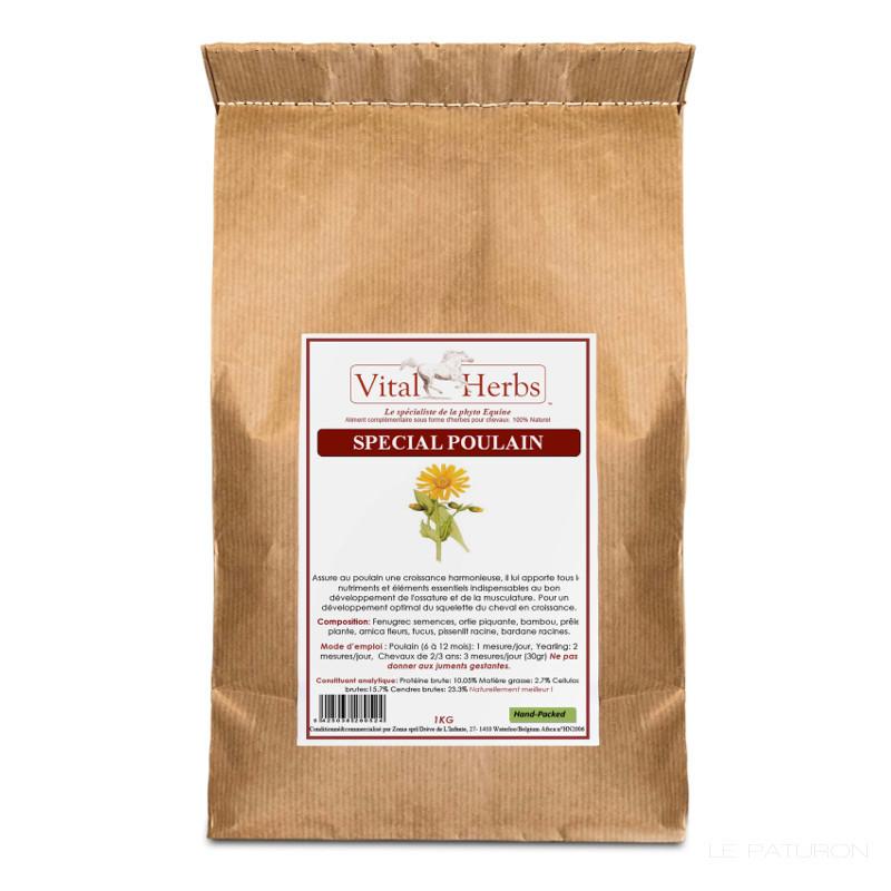 1 Spécial Poulain Cheval ,Vital Herbs,Besoins Spécifiques Equidés