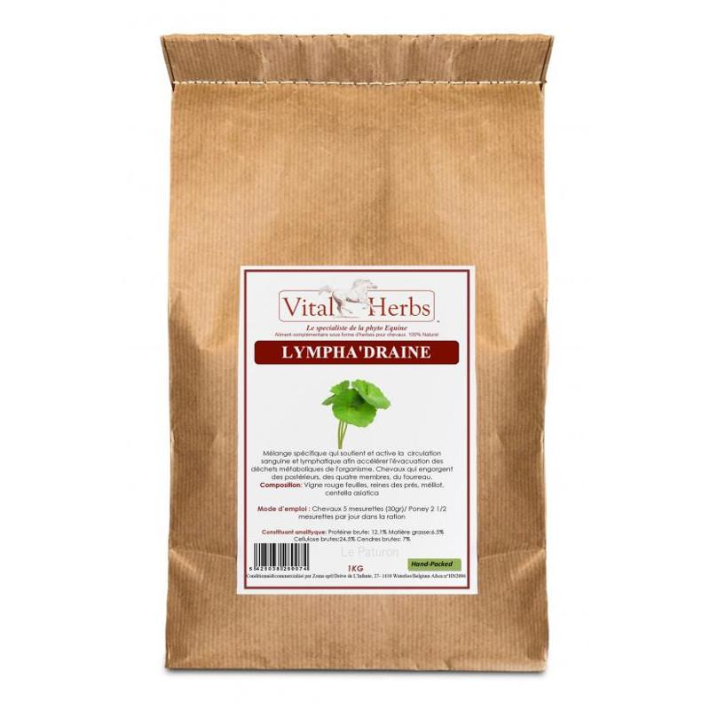1 Lympha Draine Vital Herbs : Engorgement cheval - Le Paturon