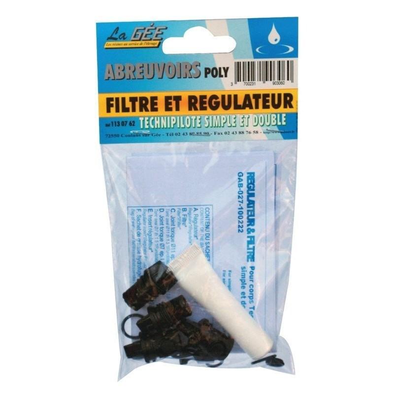 Filtre et régulateur (2 kit) Technipilote pour abreuvoirs poly La Gée