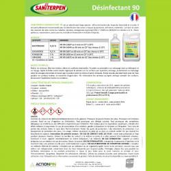 Saniterpan 90 Désinfectant Bactéricide Véricide Fongicide - 5 litres