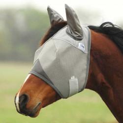 Masque anti mouche cheval avec oreilles Crusader et passage touper