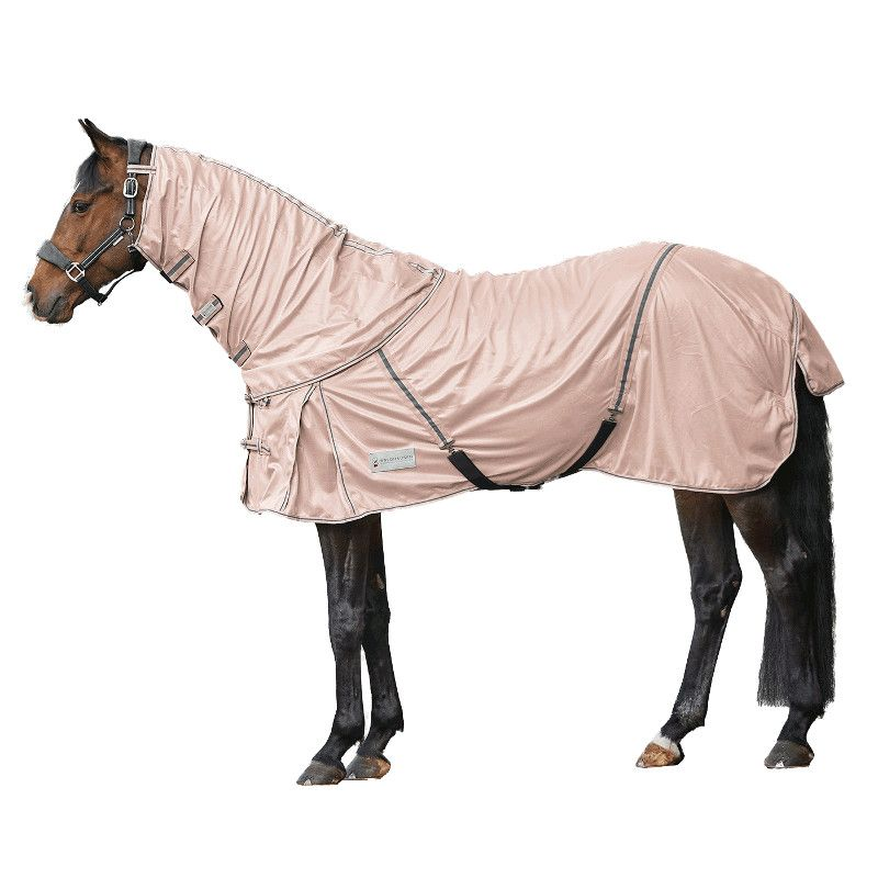 Couverture anti-mouche cheval camail amovible