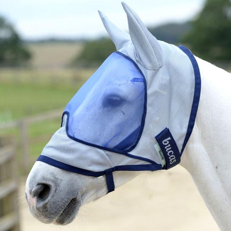 Masque anti mouches cheval anti-UV Deluxe Oreilles - Bucas - Le Paturon