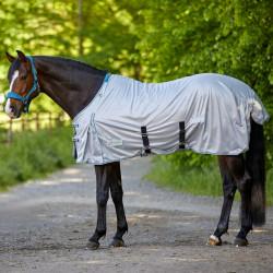 Couverture anti-mouche cheval Protect Waldhausen - Le Paturon - Gris Argent