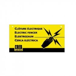 Panneau information Clôture électrique chevaux - Le Paturon