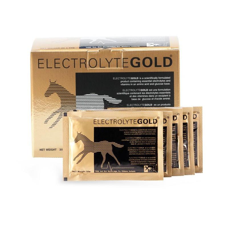 Électrolytes poudre cheval 200 x 50 g Gold TRM - Le Paturon