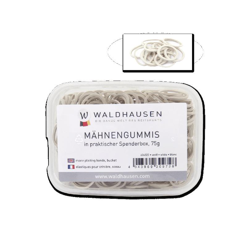 Elastiques à natter Waldhausen - Le Paturon - Blanc