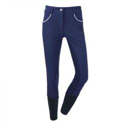 Pantalon avec un fond totalement en matière grip idéal pour vos séances de dressage - Le Paturon