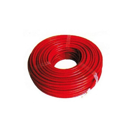 Cable rouge Creb isole haute tension bobine de 25 m - Le Paturon