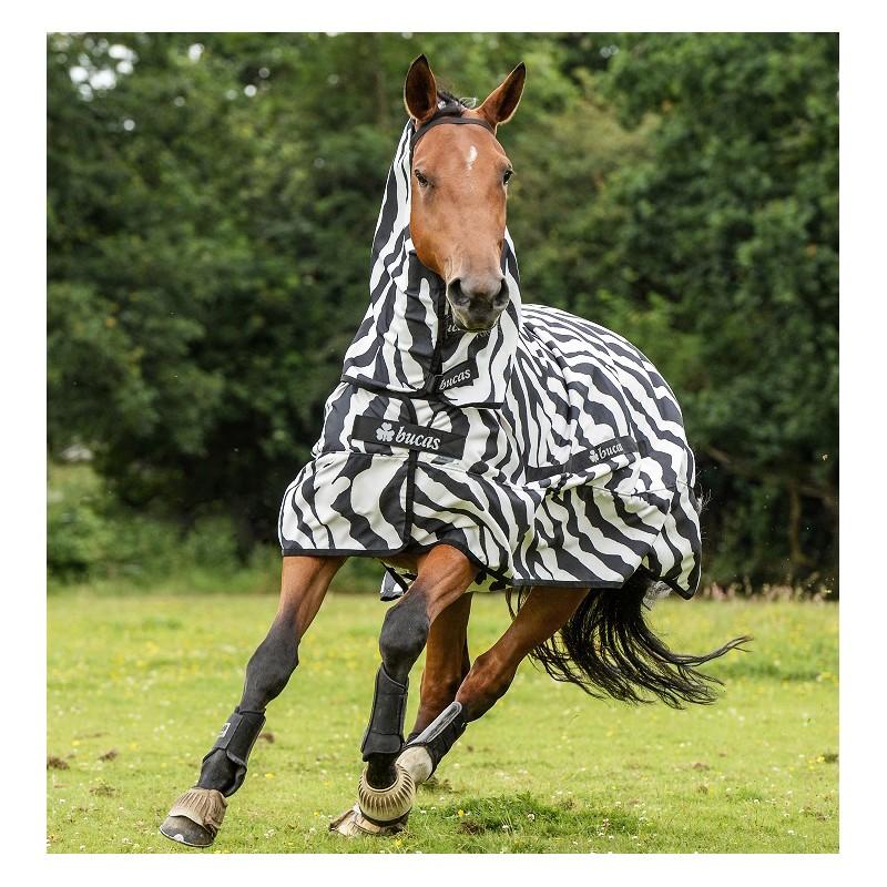 Couverture anti-dermite cheval Sweet Itch Zebra - Bucas - Le Paturon