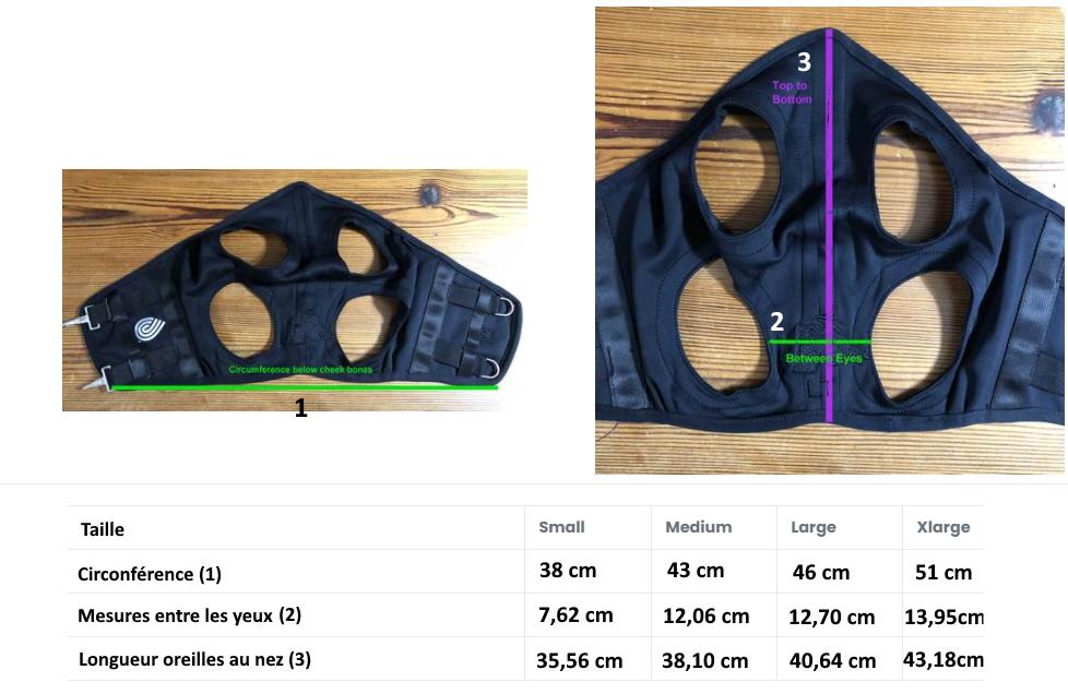 Comment choisir taille masque Fenwick Titane liquid - Le Paturon