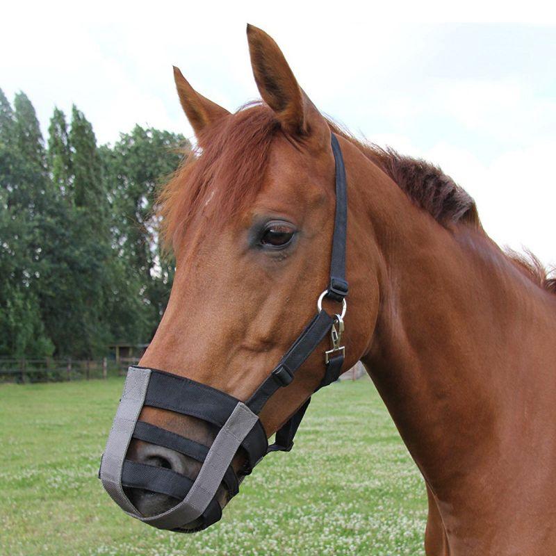 Muselière cheval  poney shetland en tissu Waldhausen