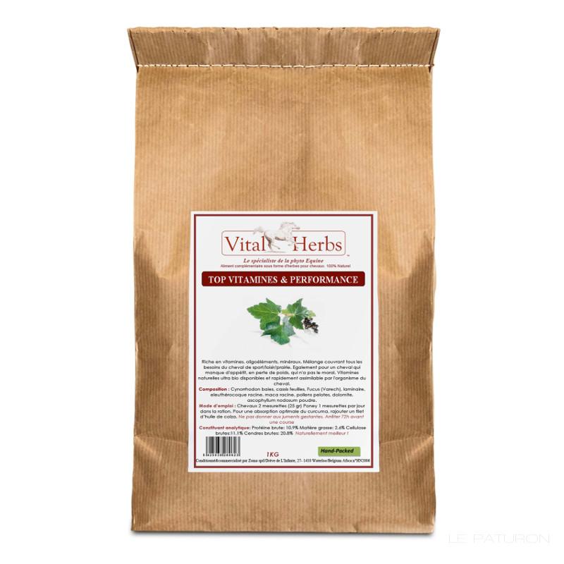 Top vitamine performanche Vital Herbs, Herbe équine - Le Paturon